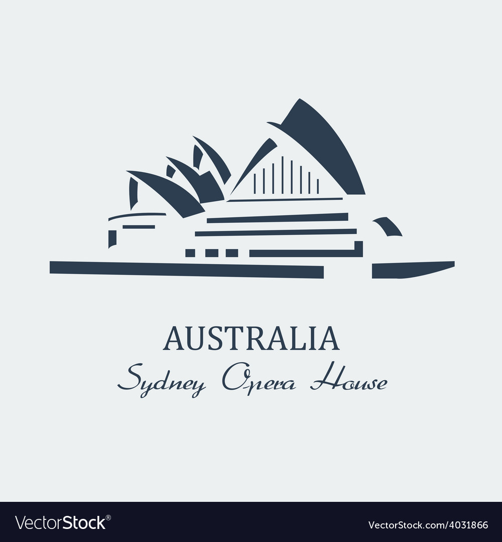 Sydney opera house black vector | Price: 1 Credit (USD $1)
