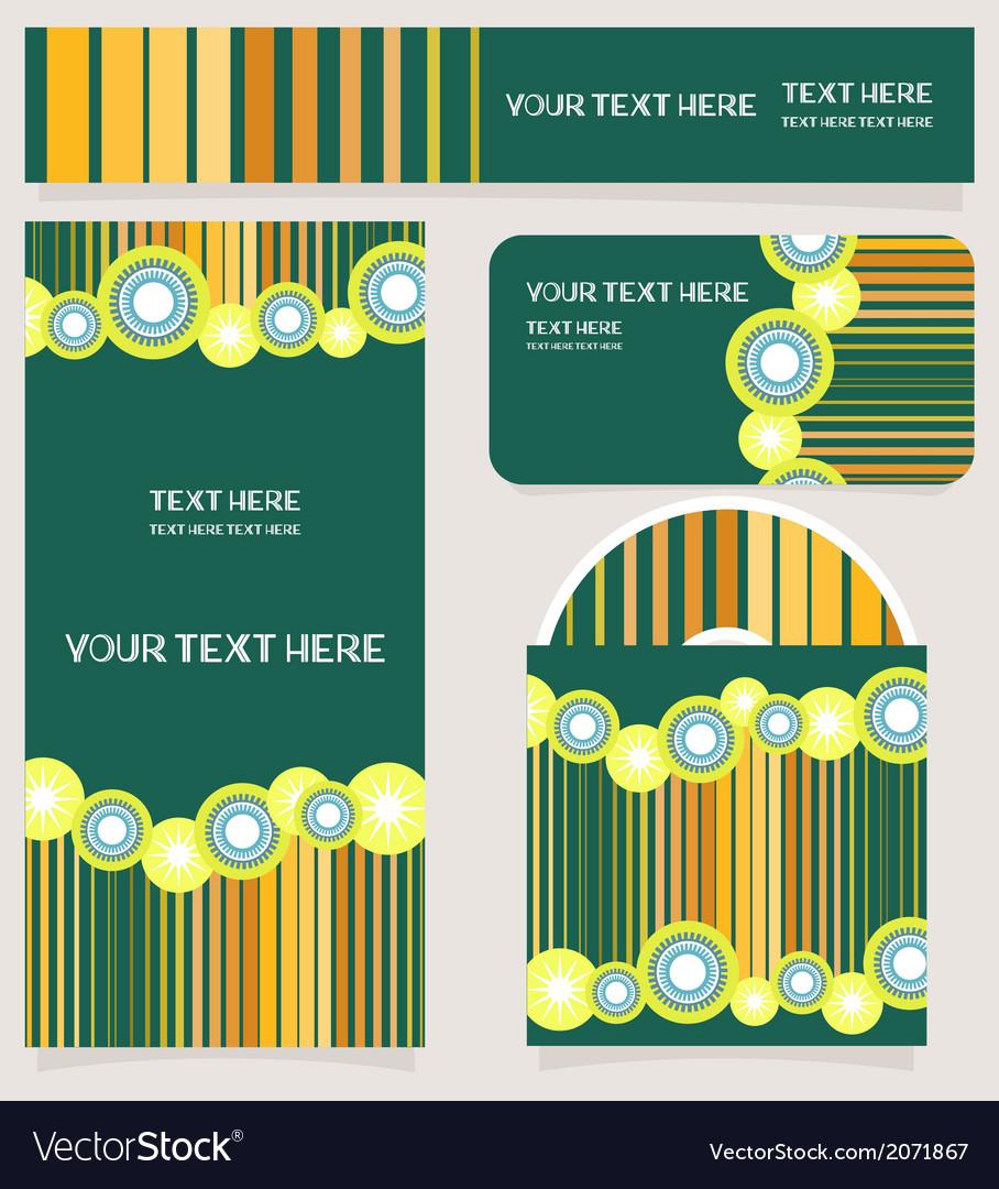 Branding design striped set vector | Price: 1 Credit (USD $1)