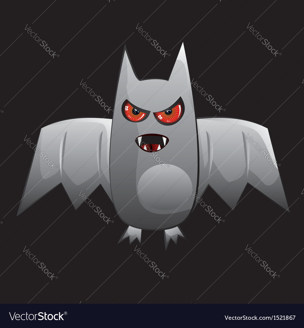 Cartoon bat vector | Price: 1 Credit (USD $1)