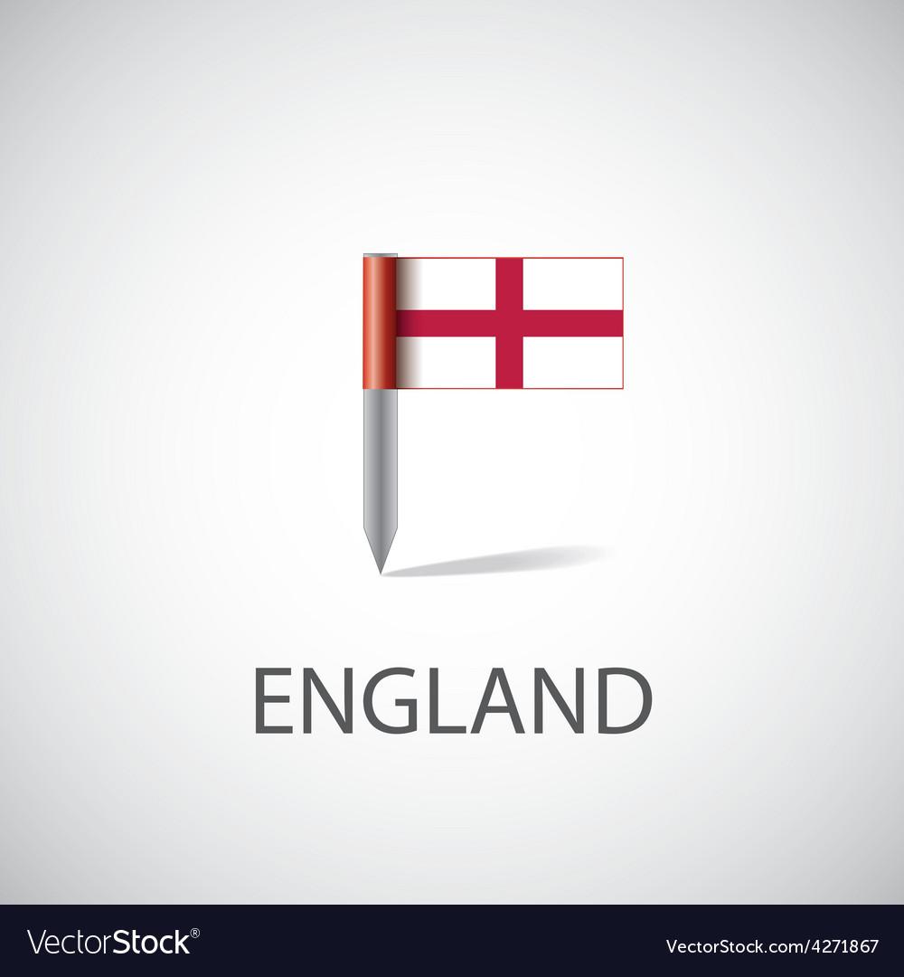 England flag pin vector   Price: 1 Credit (USD $1)
