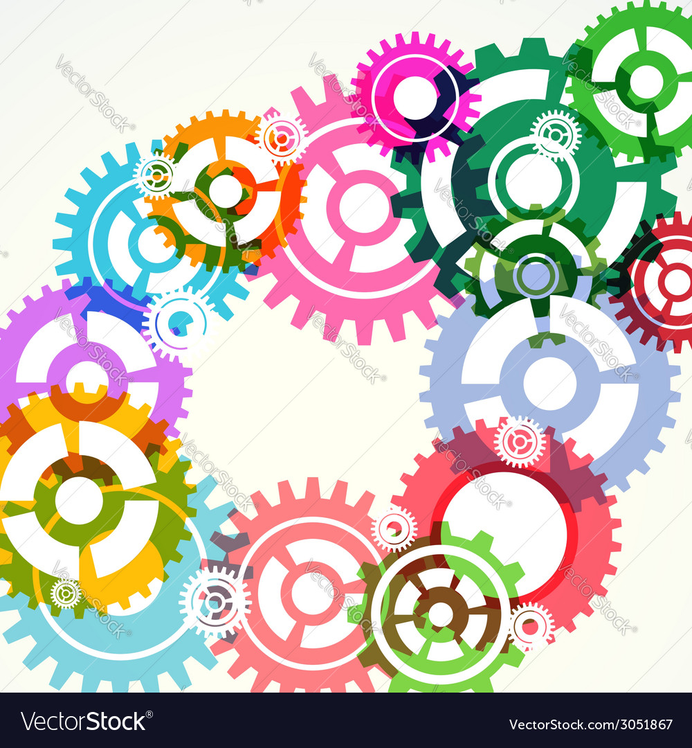 Gear wheels abstract modern background vector | Price: 1 Credit (USD $1)