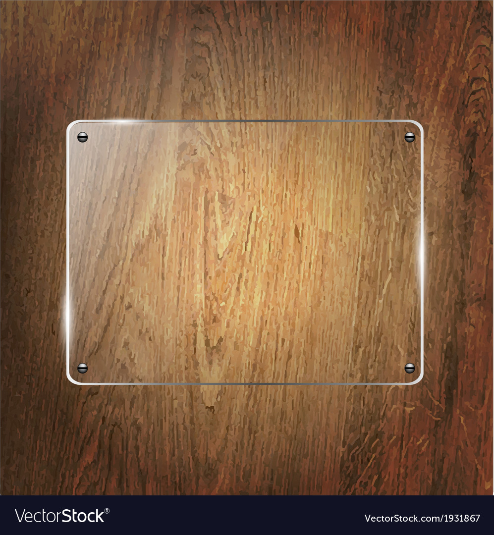 Glass shelf on wood background vector | Price: 1 Credit (USD $1)