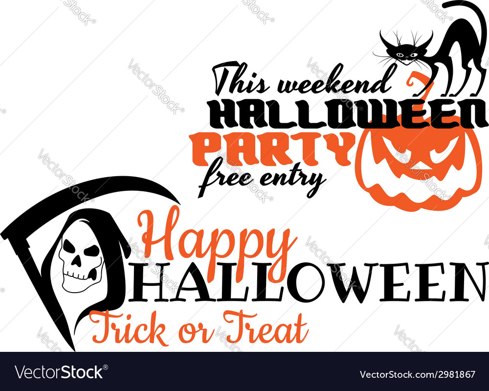 Halloween scary banners vector | Price: 1 Credit (USD $1)