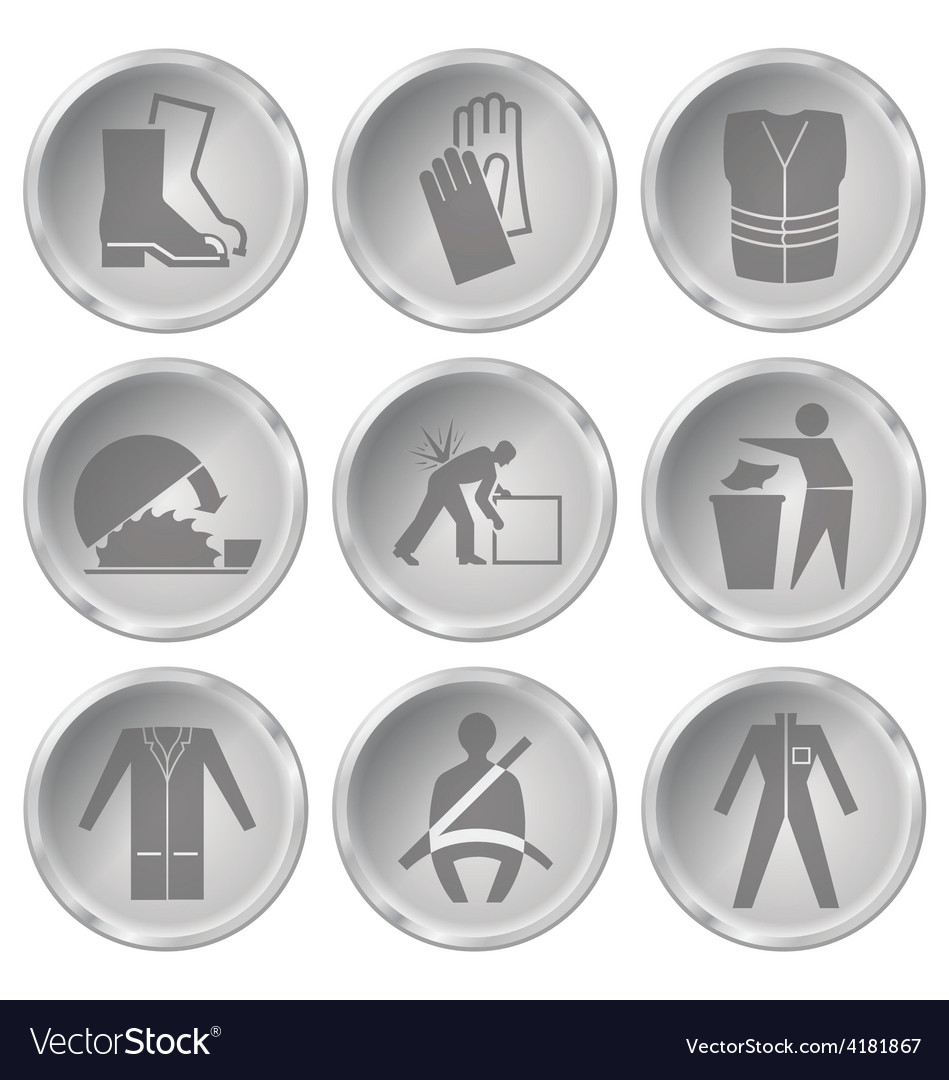 Health and safety icons vector | Price: 1 Credit (USD $1)