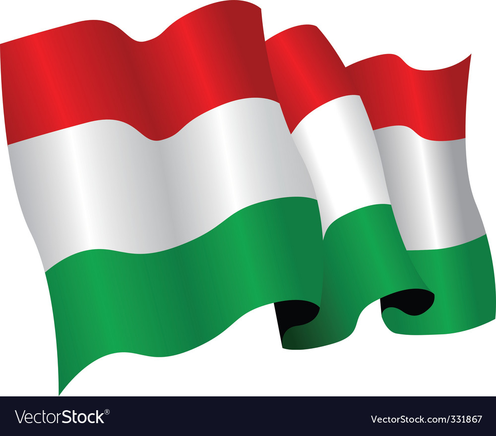 Hungary flag vector | Price: 1 Credit (USD $1)