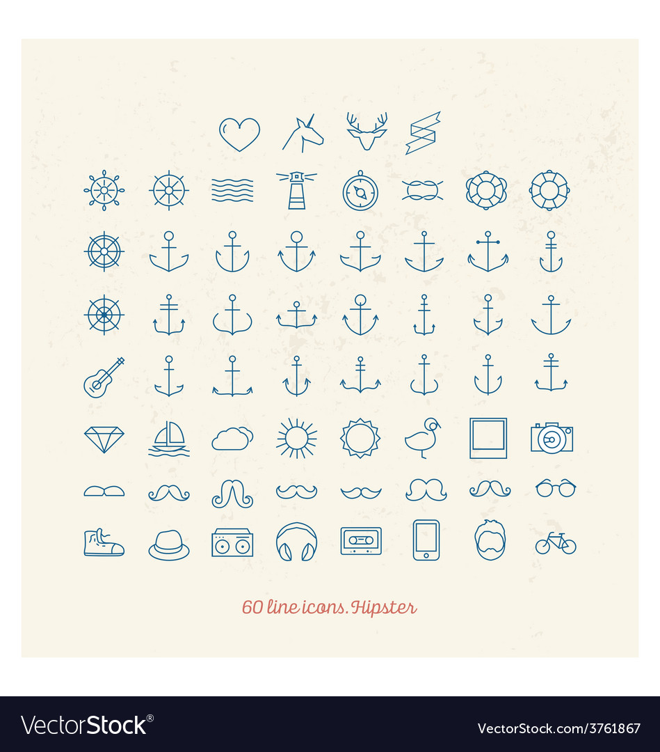 Line icons vector | Price: 1 Credit (USD $1)