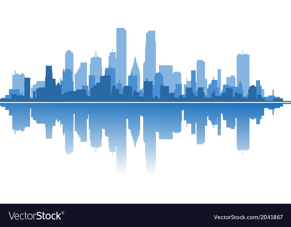 Modern city vector | Price: 1 Credit (USD $1)