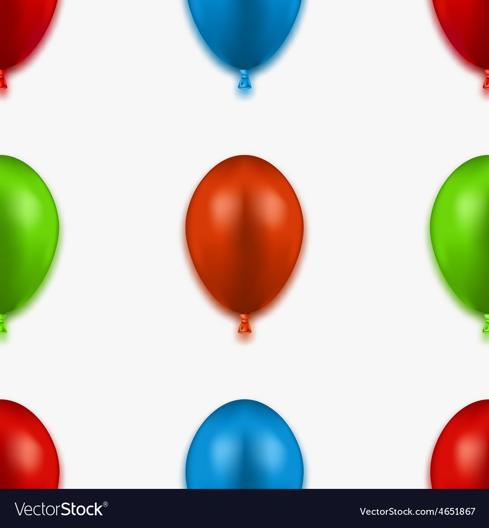 Modern seamless balloons background vector | Price: 1 Credit (USD $1)