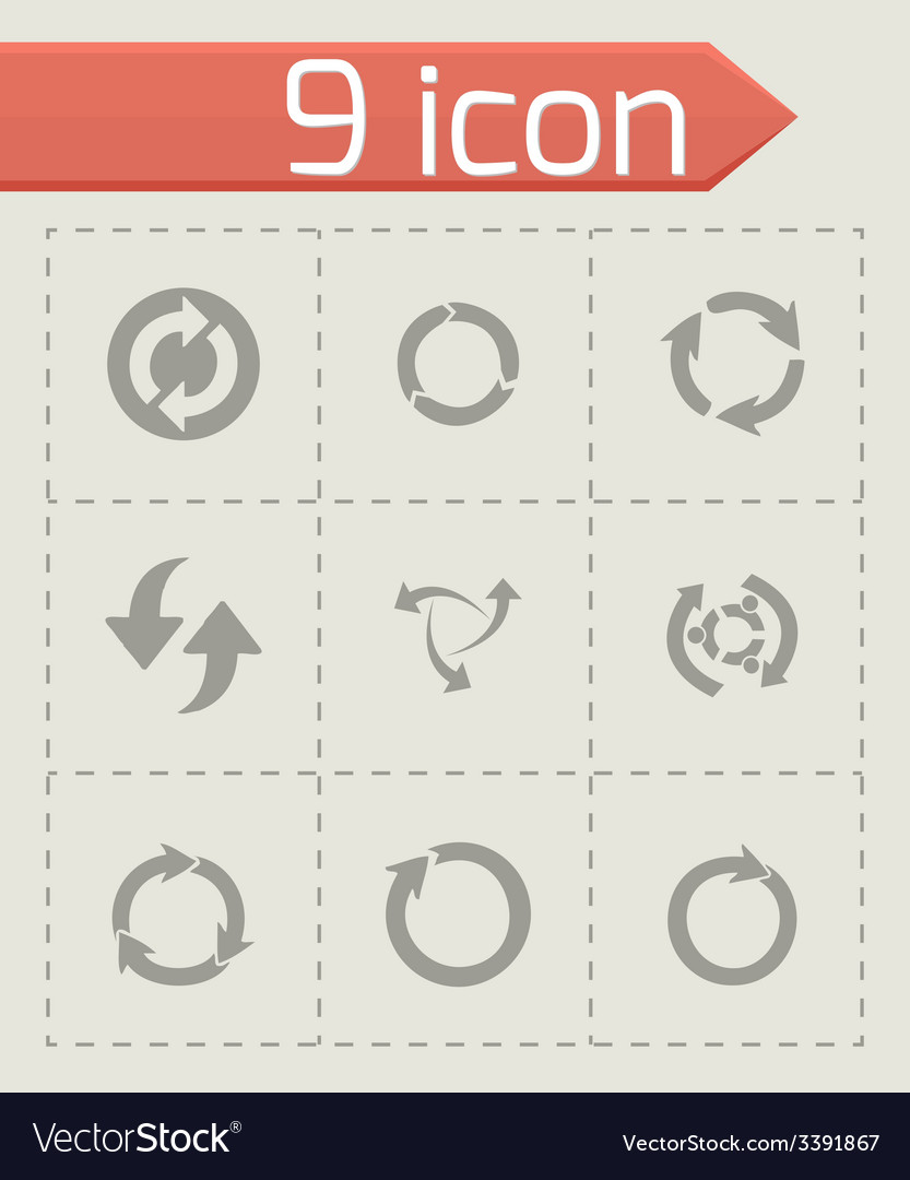 Refresh icons set vector | Price: 1 Credit (USD $1)
