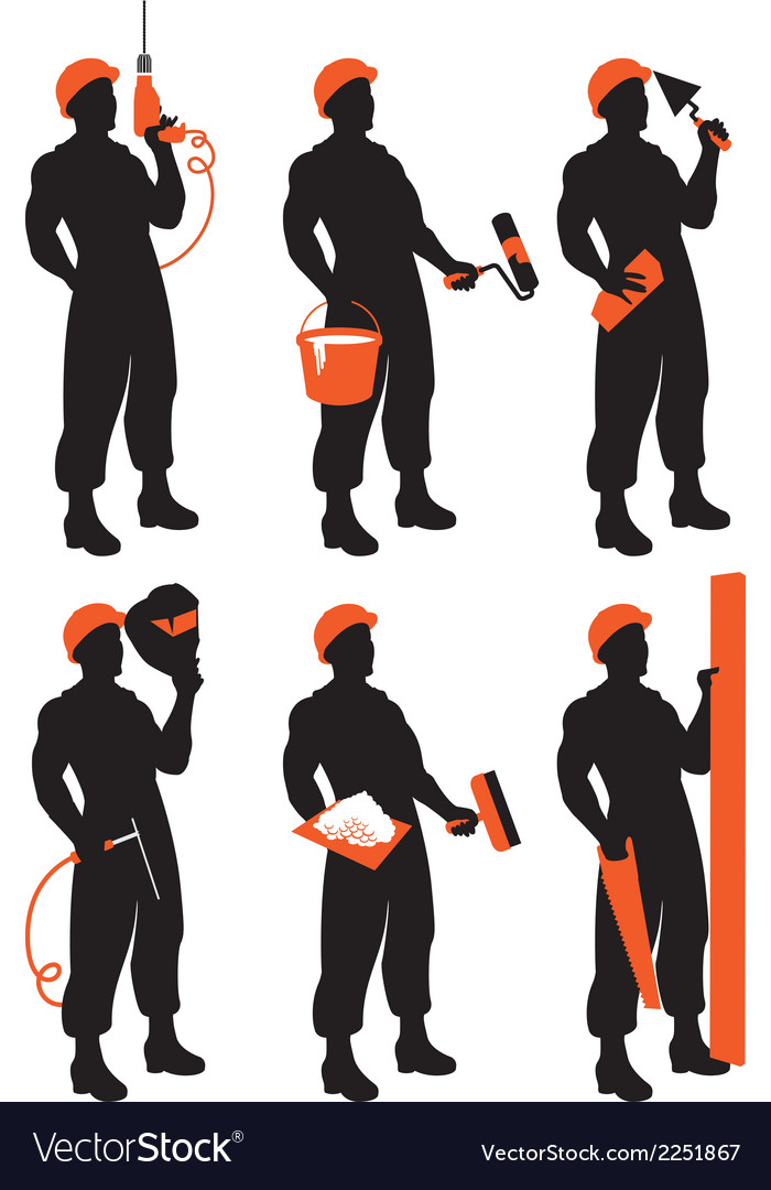 Set workers vector | Price: 1 Credit (USD $1)