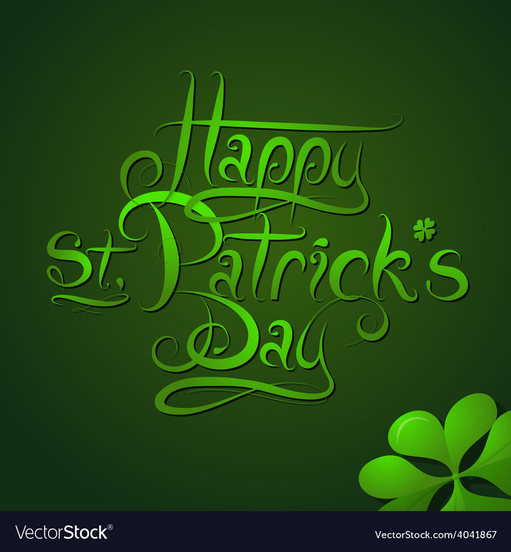 St patrick day greeting card calligraphy vector | Price: 1 Credit (USD $1)