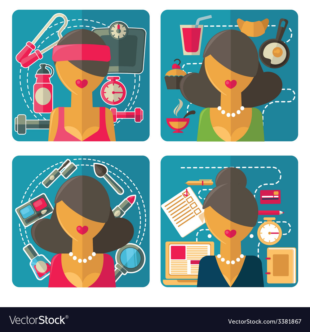 Woman avatars vector | Price: 1 Credit (USD $1)