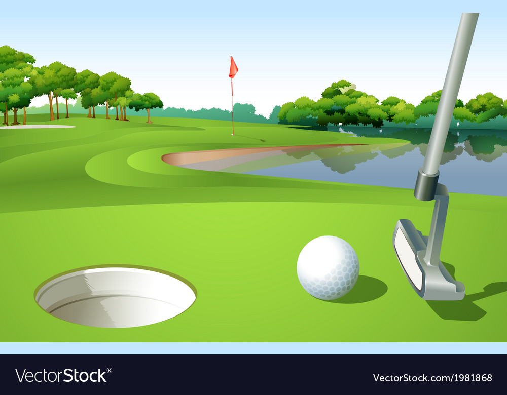 A golf course vector | Price: 1 Credit (USD $1)