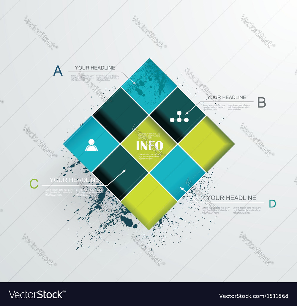Abstract modern frame for business futuristic vector | Price: 1 Credit (USD $1)