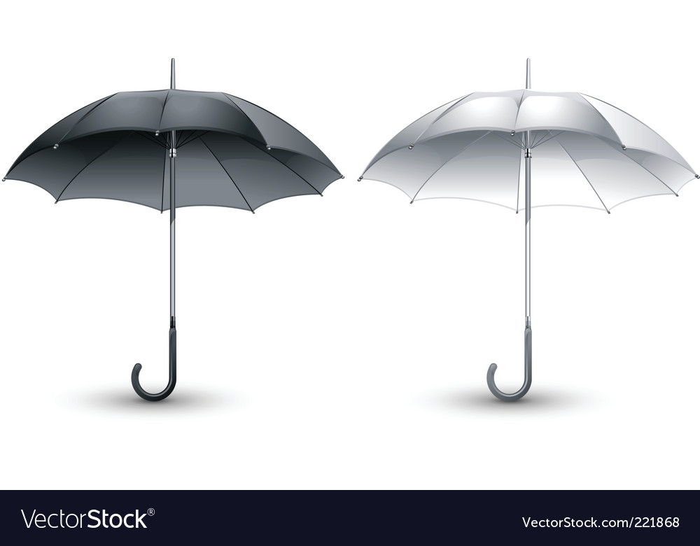Black amp white umbrellas vector | Price: 1 Credit (USD $1)
