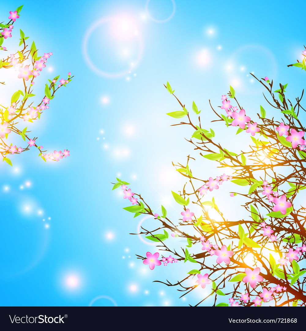 Bright spring background vector | Price: 1 Credit (USD $1)