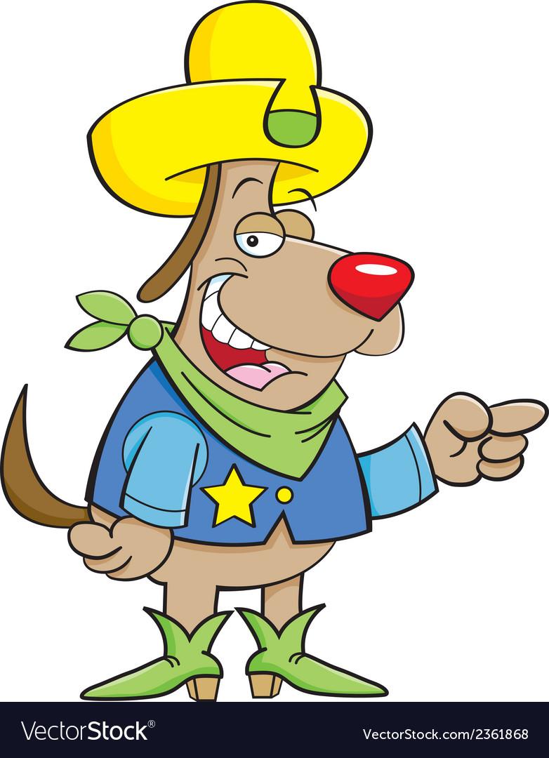 Cartoon cowboy dog vector | Price: 1 Credit (USD $1)