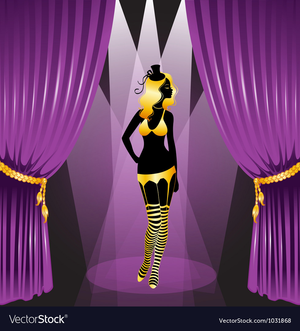 Curtain cabaret vector | Price: 3 Credit (USD $3)