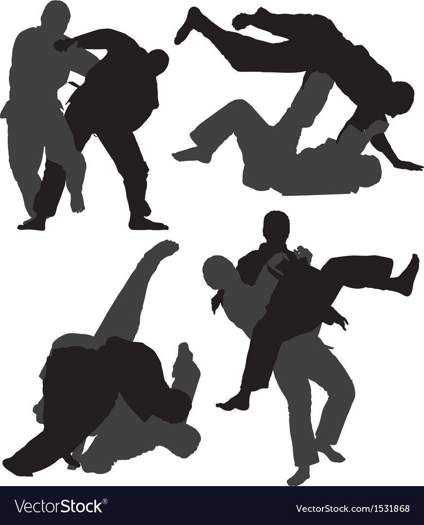 Judo silhouette vector | Price: 1 Credit (USD $1)