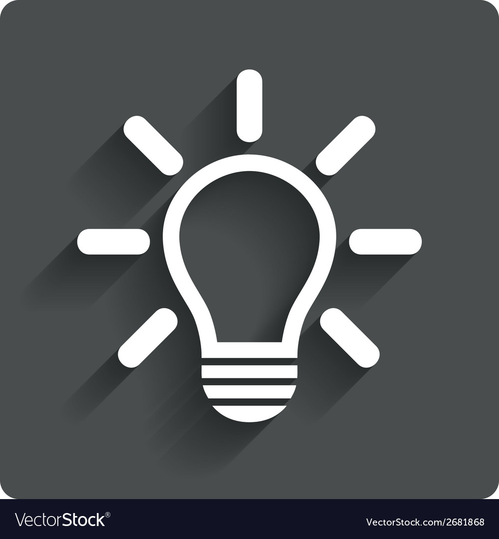 Light lamp sign icon idea symbol vector | Price: 1 Credit (USD $1)