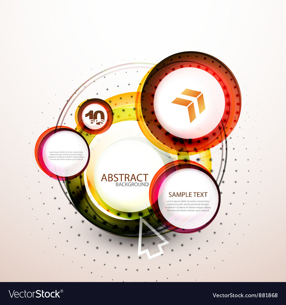 Orange web circle banner vector | Price: 1 Credit (USD $1)
