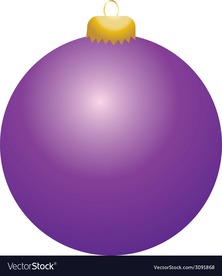 Purple ball ornament vector