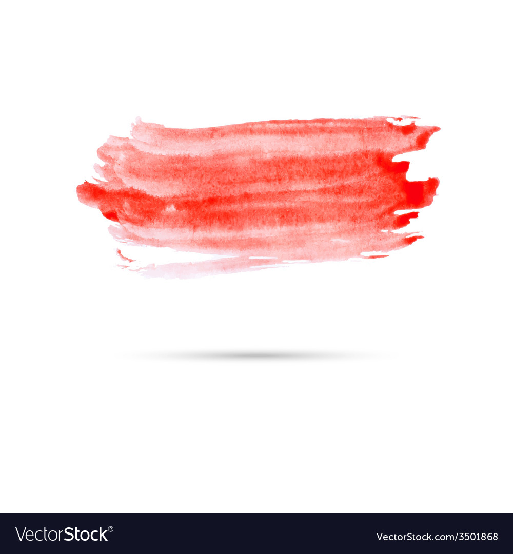 Watercolor background with red paint vector | Price: 1 Credit (USD $1)