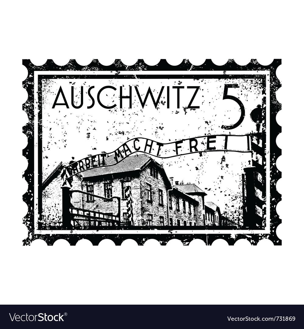 Auschwitz stamp vector | Price: 1 Credit (USD $1)