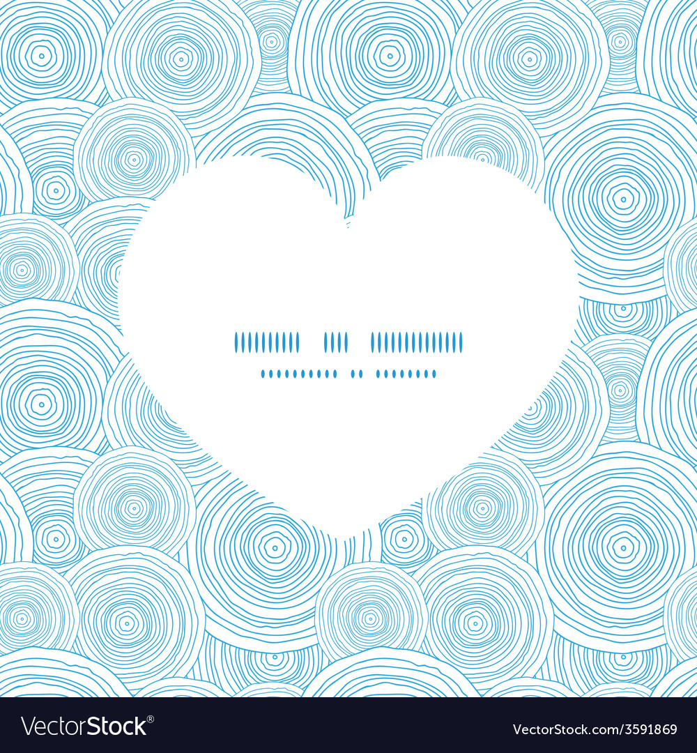 Doodle circle water texture heart silhouette vector | Price: 1 Credit (USD $1)