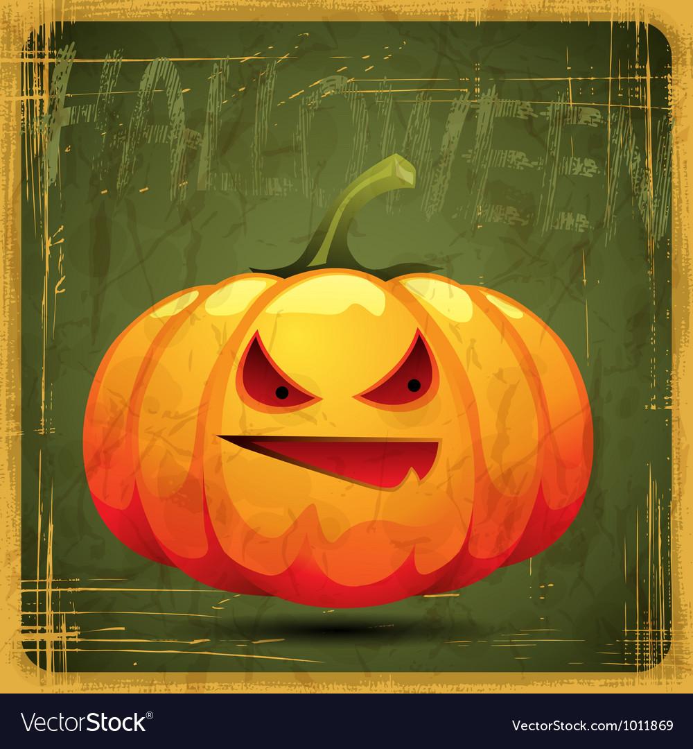 Eps10 vintage grunge old card halloween pumpkin vector | Price: 1 Credit (USD $1)