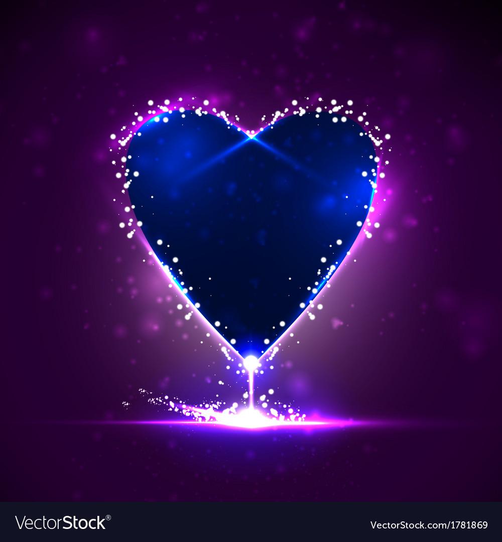 Futuristic heart vector | Price: 1 Credit (USD $1)