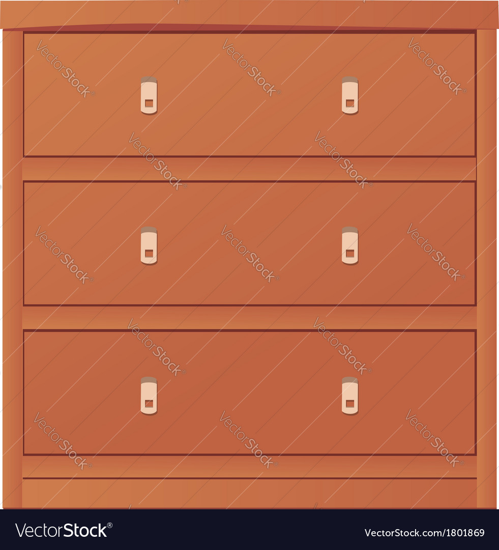 Light-colored simple chest of drawers vector | Price: 1 Credit (USD $1)