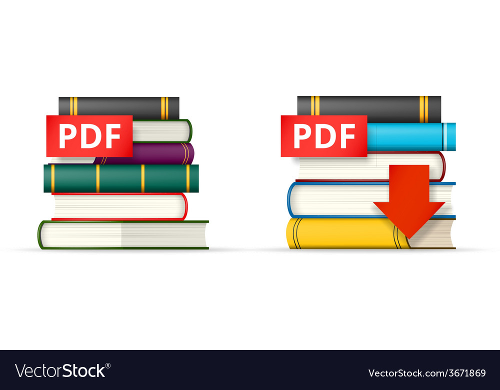 Pdf books stacks icons vector | Price: 1 Credit (USD $1)