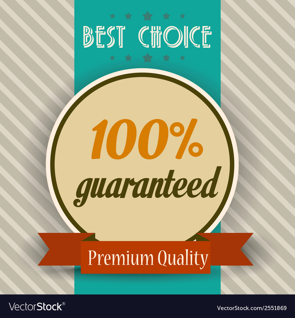 Retro of a best choice message vector | Price: 1 Credit (USD $1)
