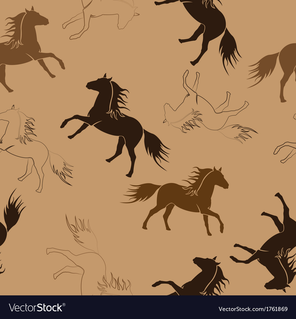 The running horses vector | Price: 1 Credit (USD $1)