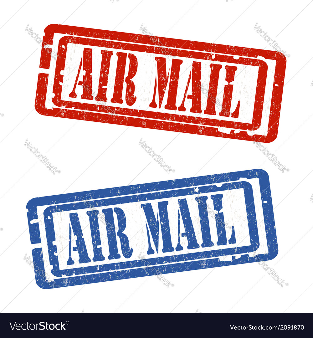 Air mail grungy stamp vector | Price: 1 Credit (USD $1)