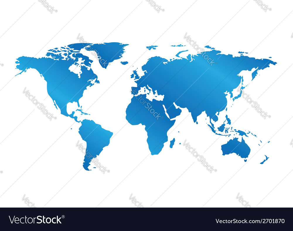 Blue map of the world with gradient vector | Price: 1 Credit (USD $1)