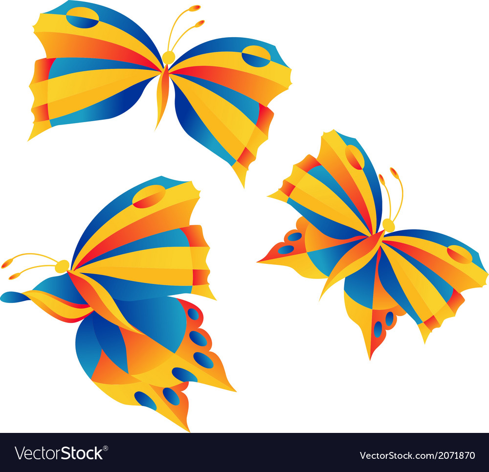 Bright butterflies vector | Price: 1 Credit (USD $1)