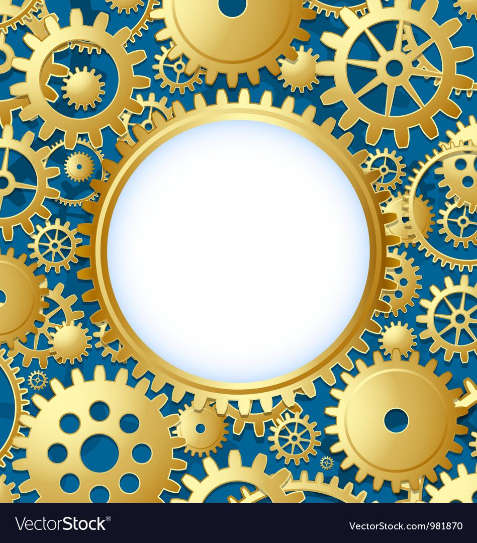 Cogwheel gear document template vector | Price: 1 Credit (USD $1)