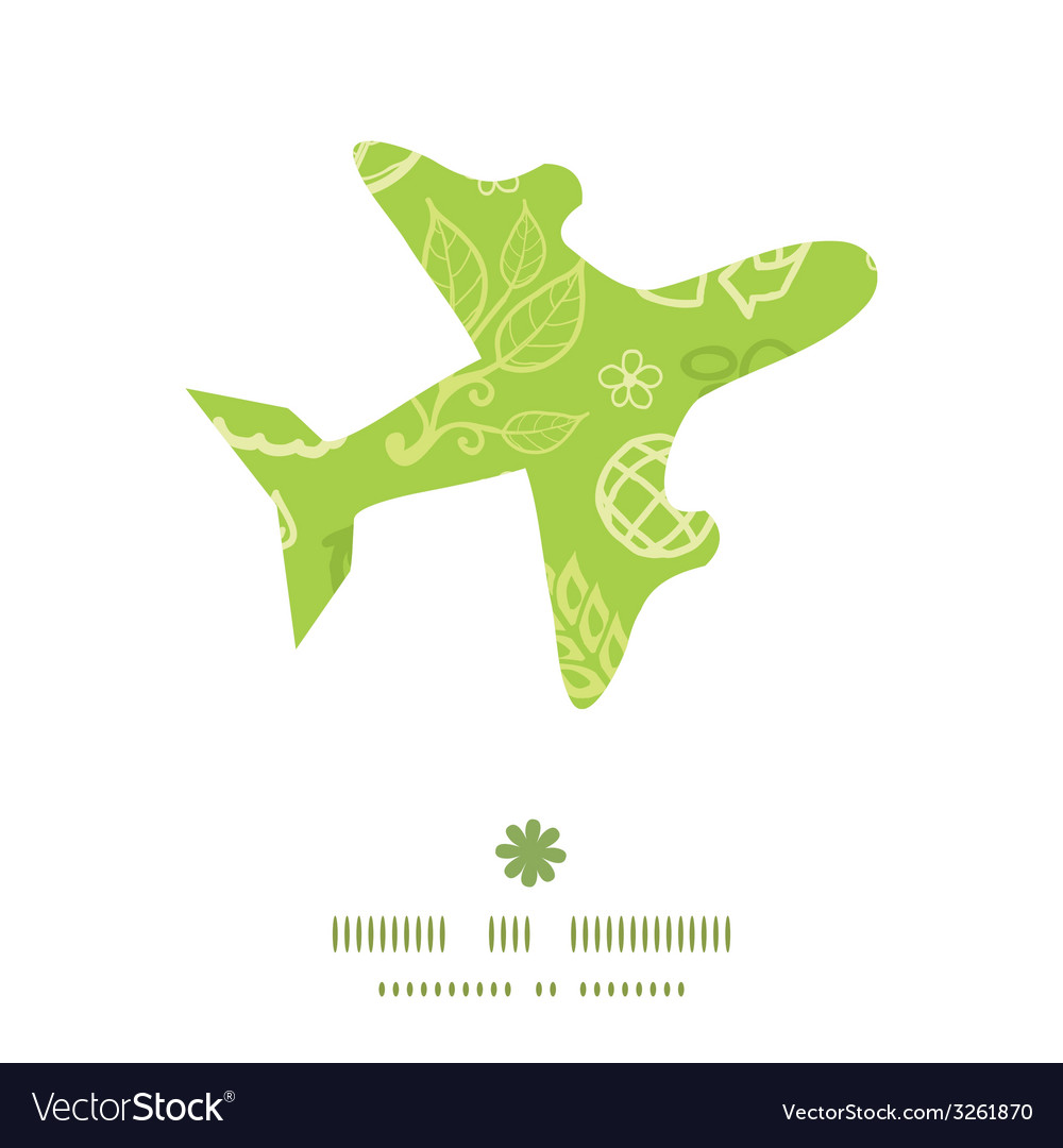 Environmental airplane silhouette pattern frame vector | Price: 1 Credit (USD $1)