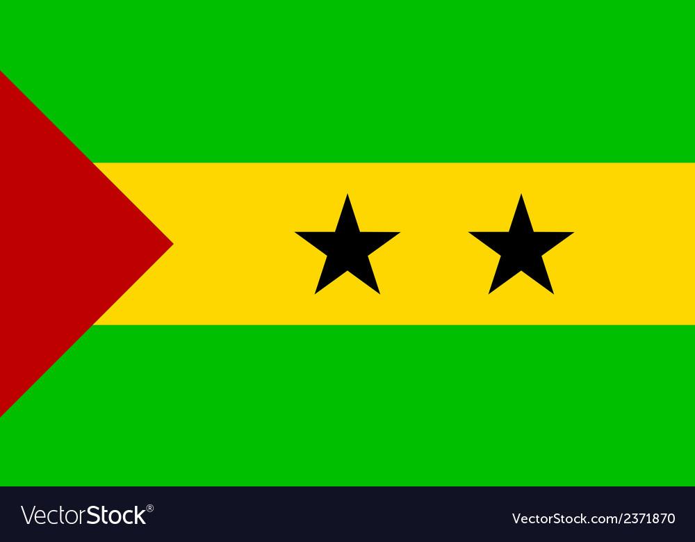 Flag of sao tome and principe vector | Price: 1 Credit (USD $1)