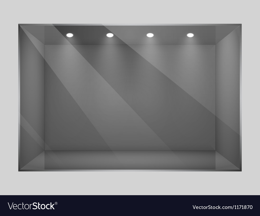 Glass empty show window of shop vector | Price: 1 Credit (USD $1)
