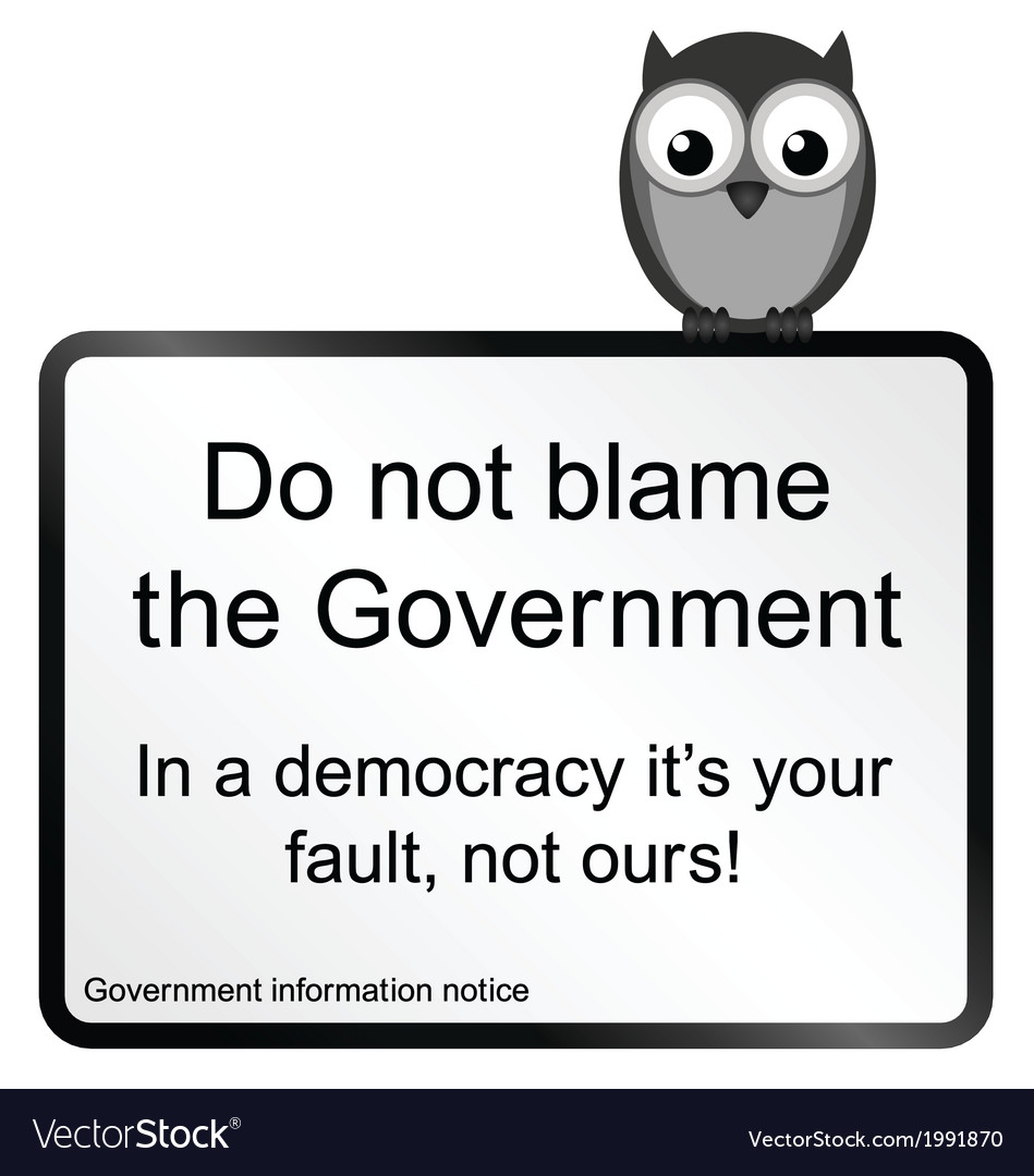 Government blame vector | Price: 1 Credit (USD $1)