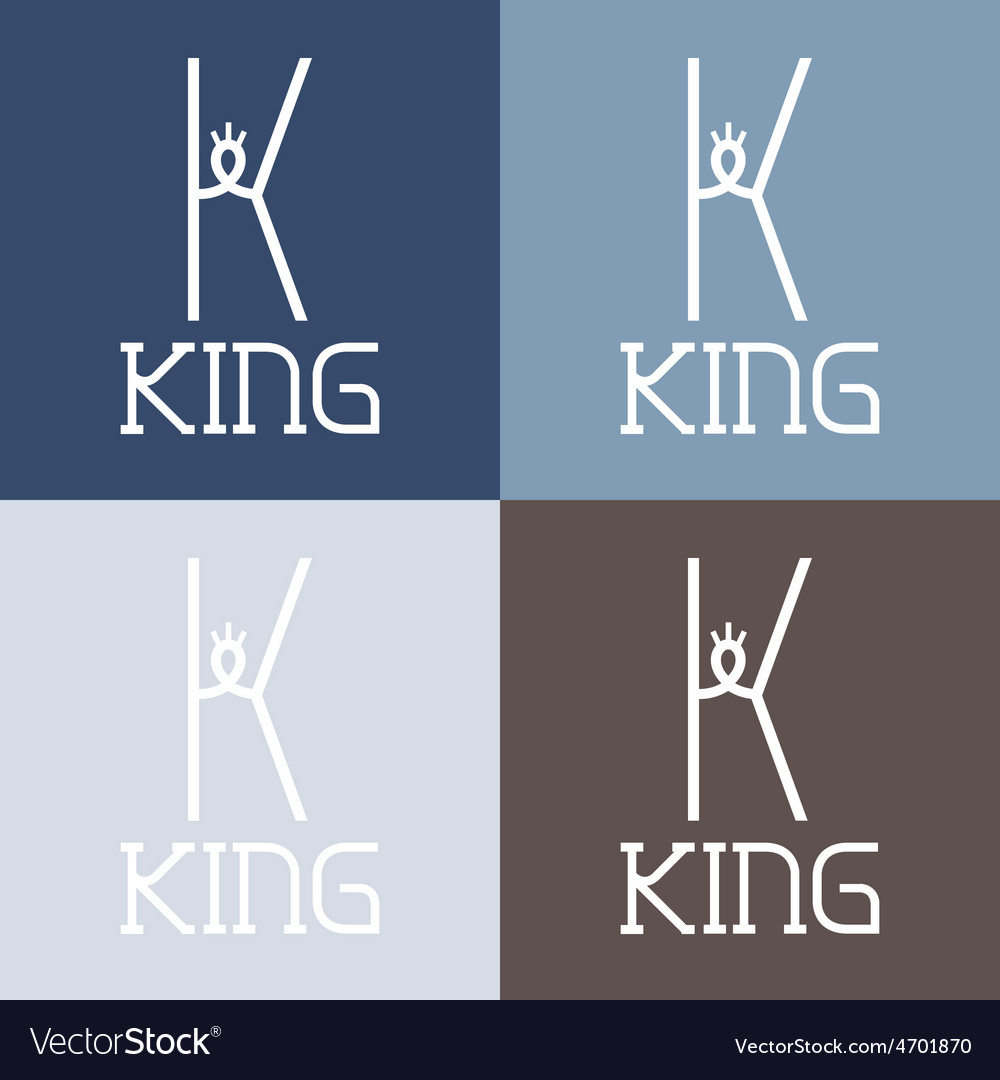 King monogram vector | Price: 1 Credit (USD $1)