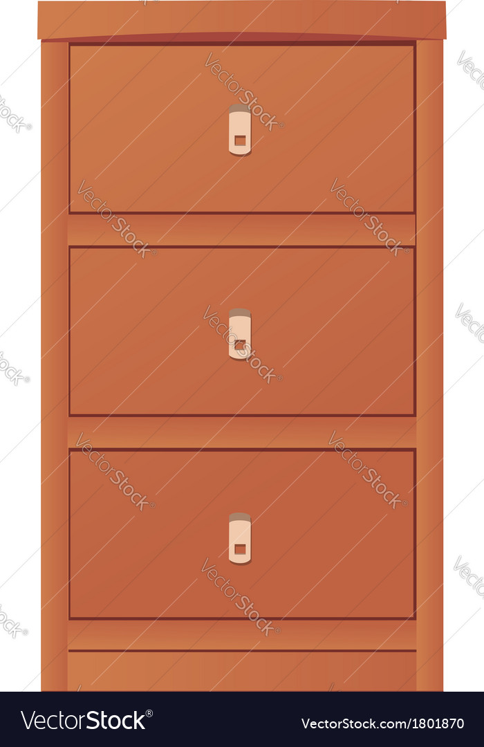 Light-colored simple cupboard vector | Price: 1 Credit (USD $1)