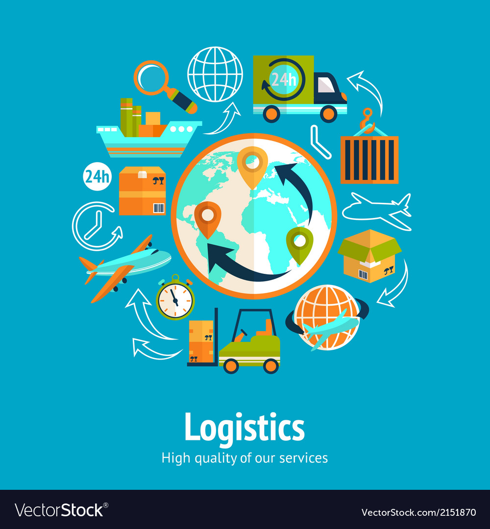 Logistic chain concept vector | Price: 1 Credit (USD $1)