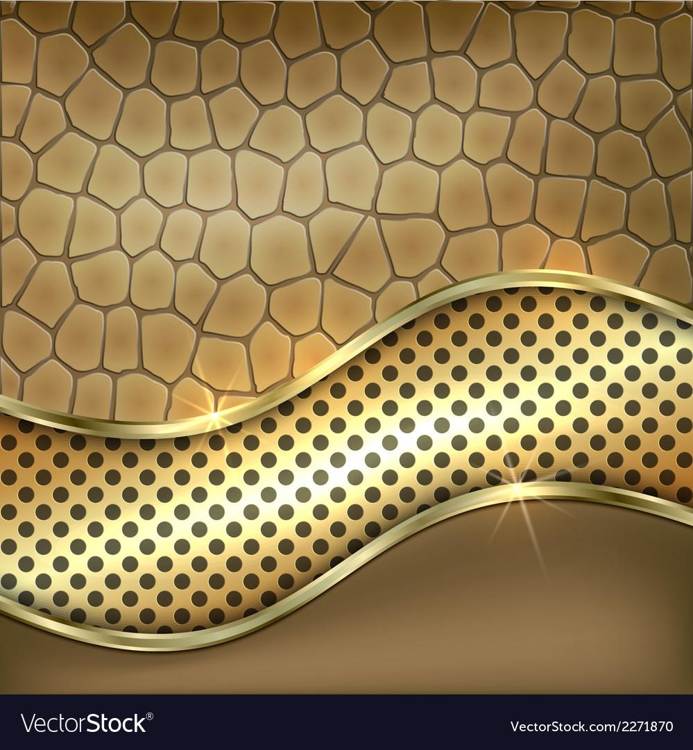 Metallic gold leather decorative background vector | Price: 1 Credit (USD $1)