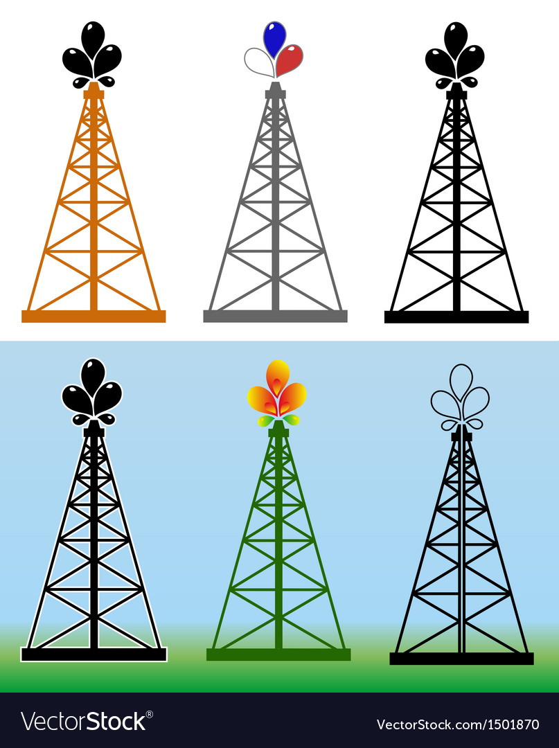 Oil derrick vector | Price: 1 Credit (USD $1)