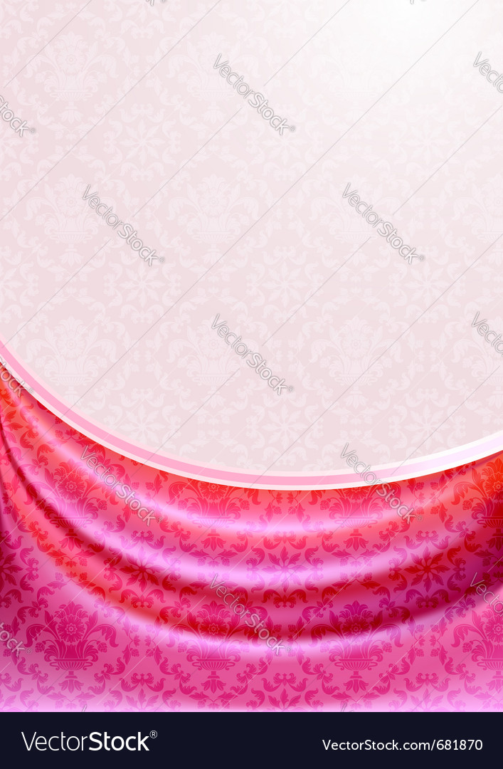 Pink curtain silk tissueeps vector | Price: 1 Credit (USD $1)