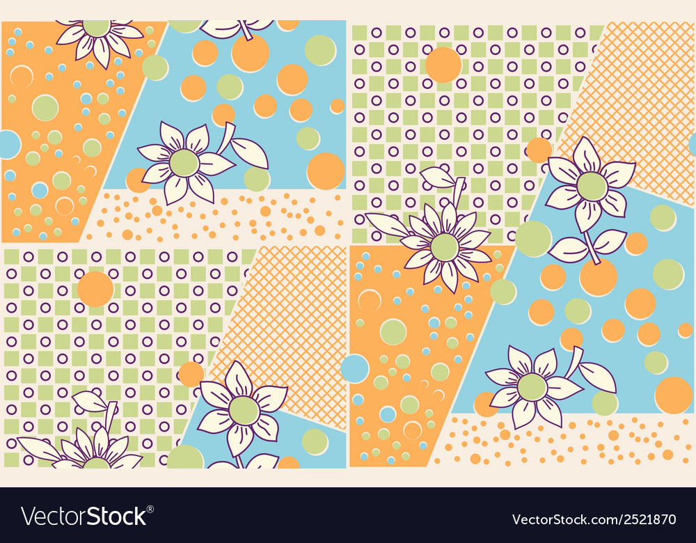 Seamless cute abstract summer pattern vector | Price: 1 Credit (USD $1)